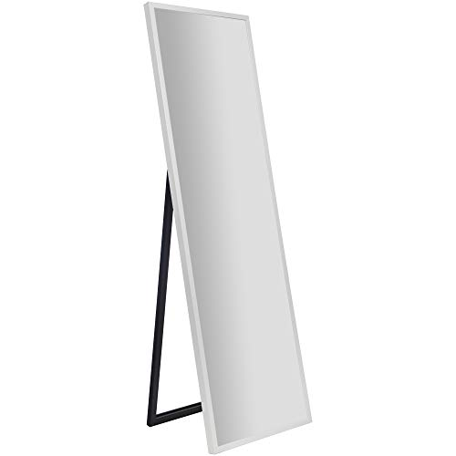 Gallery Solutions Framed Floor Free Standing Easel Full Length Mirror, 16