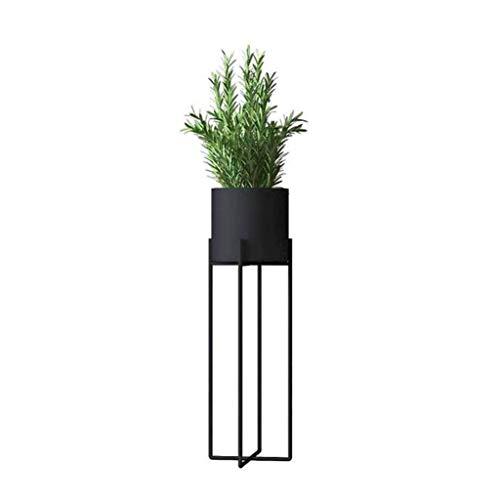 Support de Fleurs Étagère en Fer Support de Salon Balcon et Support pour Plantes d'intérieur extérieur Multifonctions Cadre en métal Présentoir de bonsaï Permanent (Noir, Or, Blanc)