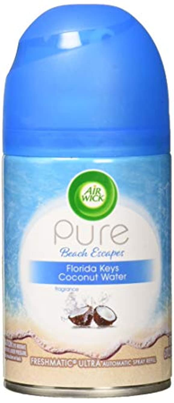 Air Wick Pure Freshmatic Refill Automatic Spray, Pure Florida Keys Coconut Water, 5.89oz, Air Freshener, Essential Oil, Odor Neutralization, Packaging May Vary
