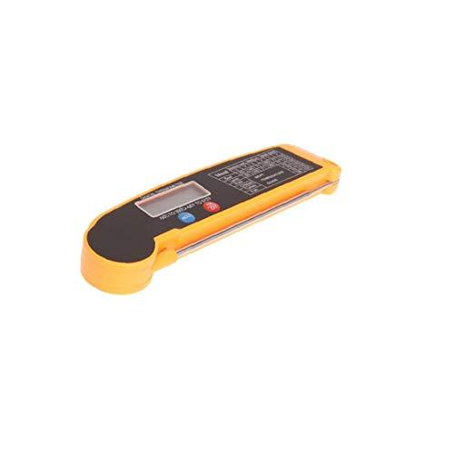 JRXyDfxn Folding Lebensmittel-Thermometer Fleisch Instant-Thermometer lesen LCD Display Barbecue Thermometer Digital-Nahrungsmittelthermometer für BBQ Grill Küche Orange Schwarz