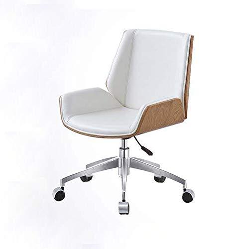 Qi Peng-//Chaise pivotante - Chaise de Bureau pour discuter de la Chaise Chaise en Cuir Chaise d'ordinateur Chaise Nordic Home Study Chaise Boss Chaise de conférence Chaise pivotante (Couleur : B)