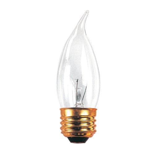 Bulbrite Incandescent CA10 Medium Screw Base (E26) Light Bulb, 40 Watt, Clear
