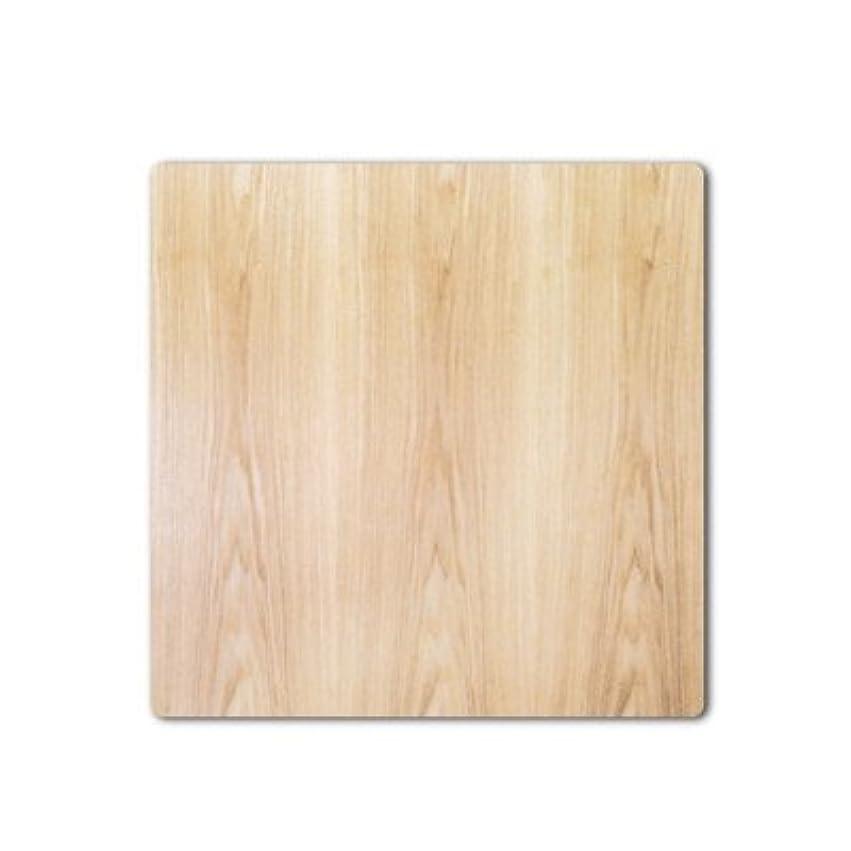 文房具招待物理こたつ板/こたつ天板 片面仕様 天然杢タモ突板 90×90センチ正方形