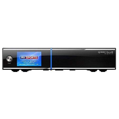 GigaBlue UHD Quad 4K 2xDVB-S2 FBC 1xDVB-C/T2 E2 Linux HEVC H.265 Receiver 4 TB HDD