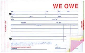We Owe OFFicial site 4-Part Dedication Form