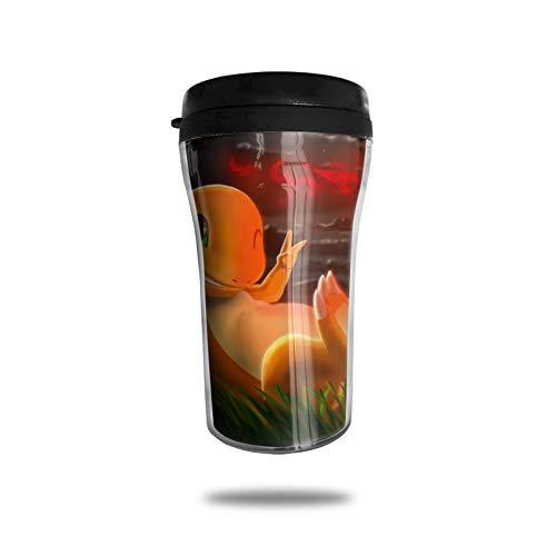 Juego Anime Charmander Taza de café con aislamiento al vacío, termo taza de doble pared, taza de viaje, bebida de viaje