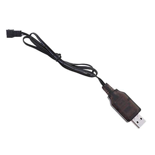 6.4V USB Conector a SM-3P Enchufe Cable de Cargador de Batería de Litio para RC Drone Avión Abejón