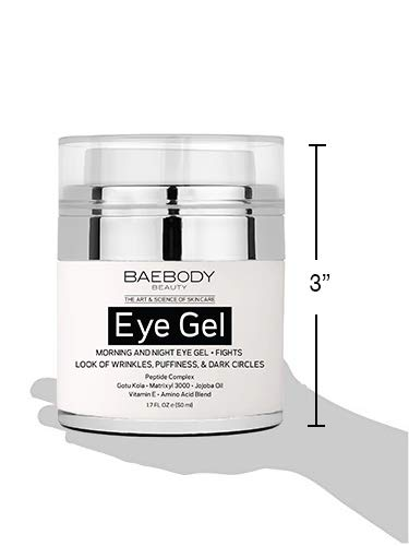 Anti aging products Baebody Eye Gel for Under and Around Eyes to Smooth Fine Lines, Brighten Dark Circles