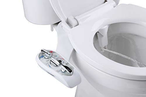 Superior Bidet attachments, the leader in washlets | Easy to install, hot and cold, self cleaning white non electric adjustable dual nozzle Supreme toilet bidet