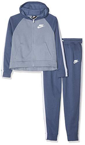 Nike G NSW TRK PE, Tuta Bambine, Blu/Bianco (diffused/Ashen Slate), XL