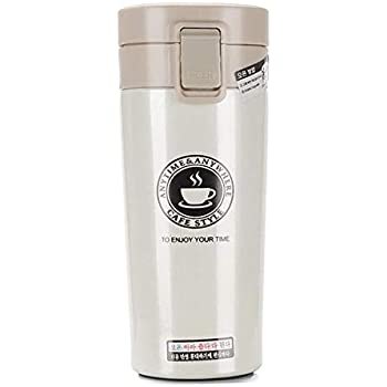 ORPIO (LABEL) Stainless Steel Vacuum Insulated Travel Tea and Coffee Mug -Insulated Cup for Hot & Cold Drinks, Travel Thermos Flask with Lid
