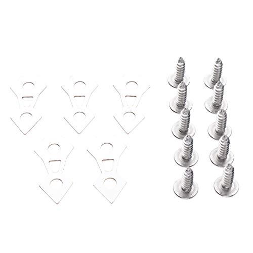 Sharplace Plaque D'assemblage Vis en Acier Inoxydable - Plaque d'argent + vis d'argent
