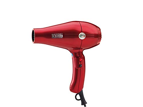 Gamma Piu 3500 Power - Secador de pelo, color rojo