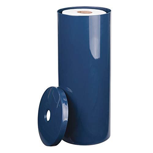 mDesign portarrollos de pie - Elegante dispensador de papel