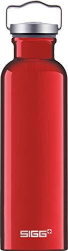 SIGG Original Red Botella cantimplora (0.75 L), botella con tapa especialmente hermética sin sustancias nocivas, botella de aluminio ligera