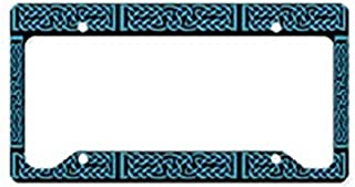 LilithCroft99 Funny Celtic Knot Blue License Plate Frame Chrome Metal,Novelty License Plate Cover,Auto License Car Tag Holder, Gifts for Men,for Women,Wife,Husband