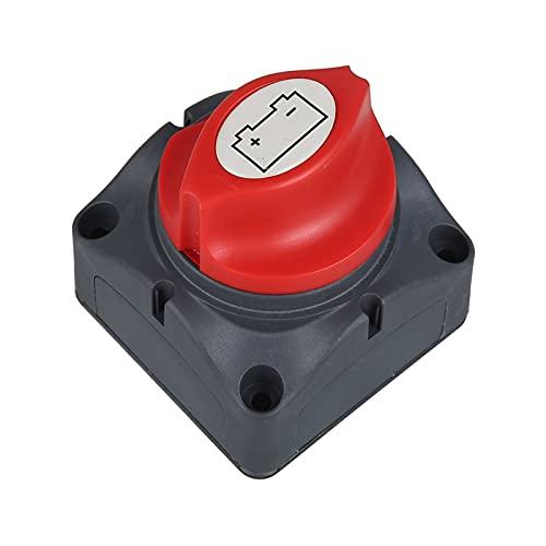 Huajin Coche Auto RV Marine Batería Selector de batería Aislador Desconecte el Interruptor Giratorio Corte (Color : Black)