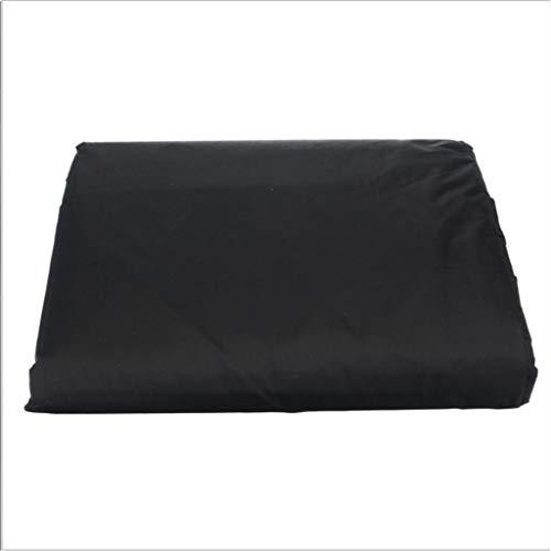 DONGZHI Patio Mueble Cubrir Impermeable Poliéster Al Aire Libre Jardín Mesa y Silla A Prueba de Viento Impermeable Polvo Rayos UV Sofá (Color : Black, Size : 155x95x68cm)