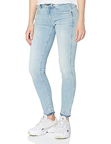 G-STAR RAW Damen Jeans Lynn Mid Waist Skinny Ripped Ankle, Blau (Lt Aged Destroy 8968-1243), 26W / 30L