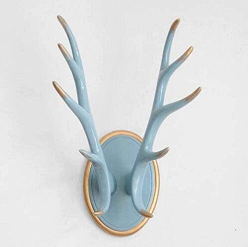 OYQQ Ornaments Statue Home Figure Decor Modern Home Decor Deer Horn Statue Hanger Wall Decoration Accessories Ornament Wedding Room Figure Decorations