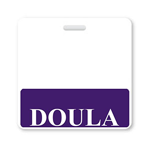 Doula Badge Buddy - Heavy Duty Horizontal Badge Buddies for Doulas - Spill & Tear Proof Cards - 2 Sided USA Printed Quick Role Identifier ID Tag Backer by Specialist ID