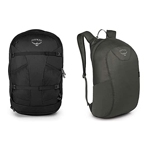 Osprey Farpoint 40 Men's Travel Pack - Volcanic Grey (S/M) + Ultralight Stuff P Mochila, Unisex...
