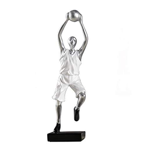 OUMIFA Estatua Creativo Resumen Decoración del Jugador de Baloncesto Sala de Estar Casera TV Vino Gabinete Figura Suave Escultura Decoración Artesanía de estatuillas (Size : A)