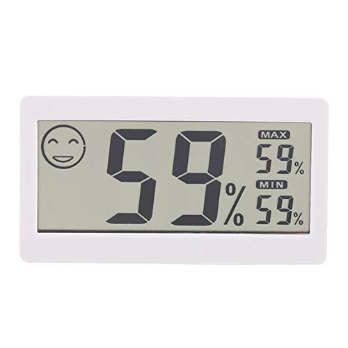 Asixxsix Medidor de Humedad del hogar, medidor de Humedad de Temperatura Interior, Registros automáticos antioxidantes para Invernadero doméstico