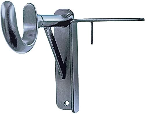 Spark Innovators Silver Tap Bracket - Easy Install No Drill Curtain Rod Brackets - As Seen on TV - Set of 2