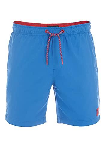 riverso Herren Badehose Badeshort RIVDavid Kurze Hose Sommer Sport Shorts Tunnelzug 100% Polyester Blau 4XL, Größe:4XL, Farbe:Bright Blue (19600)