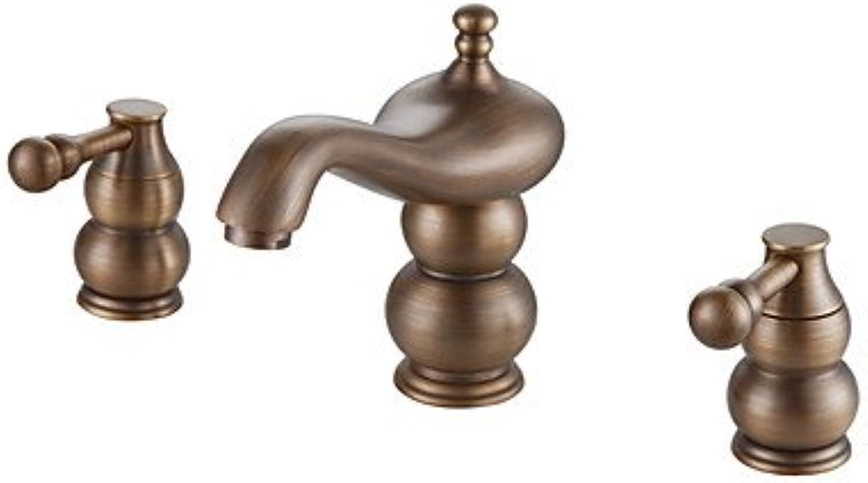 BiuTeFang Wasserhahn    Badarmatur - Waschtischarmatur     Chrome Finish Stainless Steel Contemporary Style Widespread Badarmaturen mit Handheld Wasserhahn