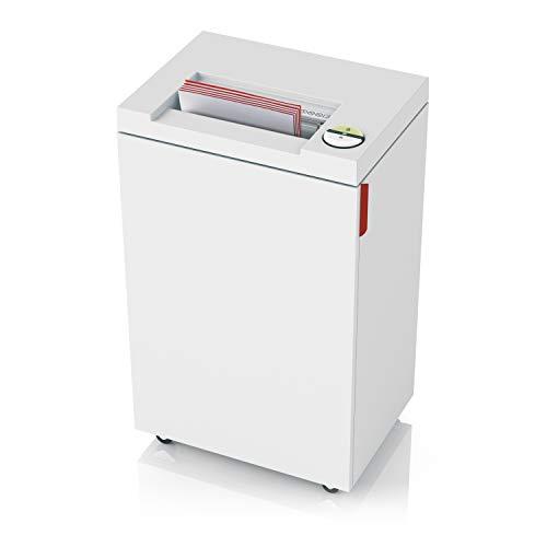 IDEAL 2465 Aktenvernichter, Sicherheitsstufe P-2, Streifenschnitt 4 mm, 21 Blatt Kapazität, 35 L Abfallbehälter, vernichtet auch Büro-/Heftklammern, Kreditkarten und CD'S und DVD's