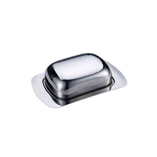 Plato para mantequilla Plato de mantequilla de mantequilla de acero inoxidable soporte de mantequilla de mantequilla para pastel de mantequilla plato de mantequilla simple y duradero la mejor opción p