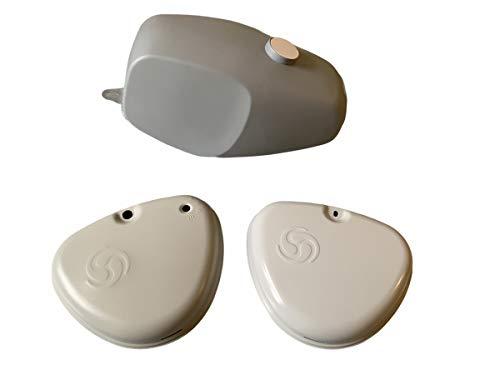 Büffeltank Set Kraftstoffbehälter + Seitendeckel für Simson S50 grundiert