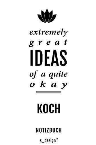 Notizbuch für Köche / Koch / Köchin: Originelle Geschenk-Idee [120 Seiten kariertes blanko Papier] _