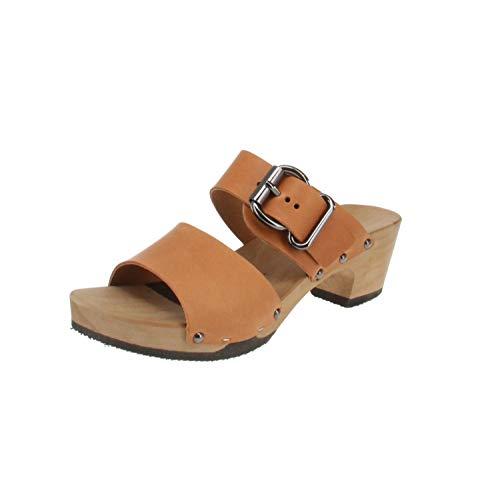 Softclox S3469 KATJA SOFTNAPPA - Damen Schuhe Sandaletten - 02-Cognac, Größe:41 EU