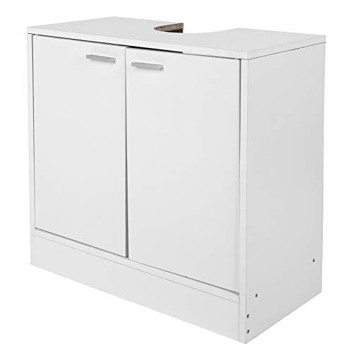 Armario para Baño con 2 Puertas y Estante, Mueble para Debajo del Lavabo, Resistente a la corrosión, fácil de Limpiar, 60 x 30 x 60cm