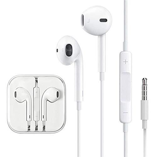 ATpart Auriculares Estéreo De 3,5 Mm En La Oreja Audífonos De Reducción De Ruido Con Sonido Estéreo Claro Auriculares Deportivos Para IPhone Android