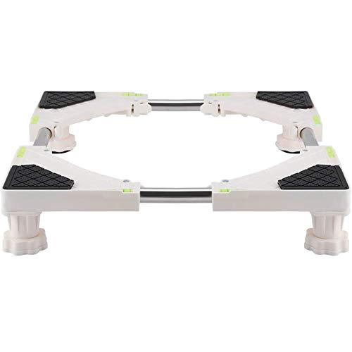 Base Resistente de la Base de la Lavadora Ajustable de 4 pies Soporte del refrigerador Soporte del Soporte Base de la Nevera Base móvil Ajustable Base Nevera Móvil Amortiguación(4 feet)