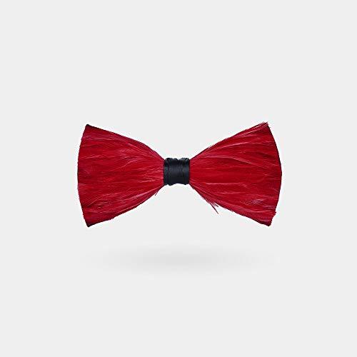 CEKINF Männer Natur Fliege, Rote Krawatte, Handgemacht, Mit Geschenkbox Für Hochzeitsfest Business Kleid