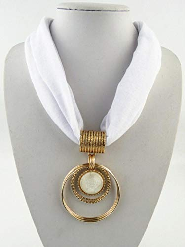 YUANCHENG Klassische Damen Anhänger Halskette Ring Schal Herstellung DIY Schal Größe 60cm * 40cm solide einfache Frauen Schals Zubehör weiß