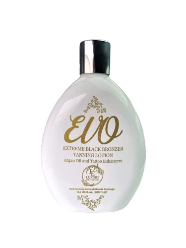 EVO Extreme Black Bronzer Tanning Lotion with Argan Oil and Tattoo Enhancers 13.5 fl. oz.