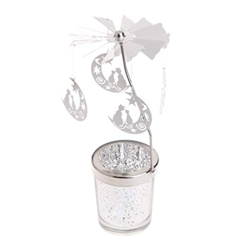Fliyeong Rotary Spinning Teelicht Kerzen Metall Teelichthalter Karussell Dekoration Hohe Qualität