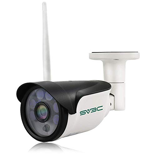 SV3C 960P Überwachungskamera Aussen Wlan/IP66 WLAN IP Kamera mit Deutscher Anleitung, Bewegungserkennung,15m Nachtsichtfunktion,TF Karten und Kompatibel mit Smartphones,Tablets und Windows PC