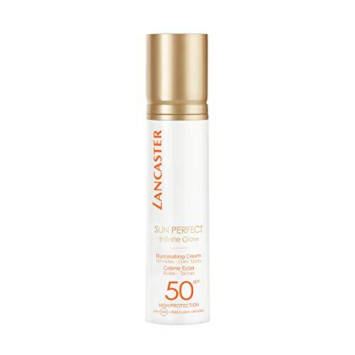 LANCASTER Sun Perfect Illuminating Cream LSF 50 High Protection, Anti Aging Gesicht Sonnenschutz Creme, 50ml