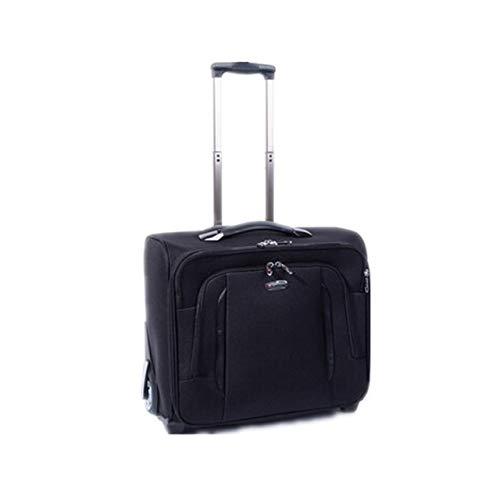 17' Black 2 Wheels Business Hand Luggage Trolley Cabin Travel Laptop Bag 4113
