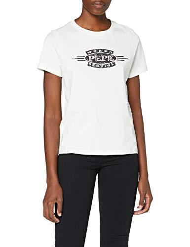 Pepe Jeans Margaret Camiseta, Beige (Natural 816), Medium para Mujer