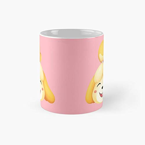 Happy Isabelle Animal Crossing Classic Mug | Best Gift Funny Coffee Mugs 11 Oz