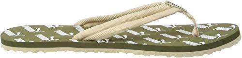 PUMA Unisex-Erwachsene Epic Flip V2 Amplified Zapatos de Playa y Piscina, Grün (Burnt Olive-Tapioca White), 42 EU