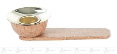 Ersatzteile & Bastelbedarf Holztülle mit Messingeinsatz für Kerzen d=17mm und Tropfschale d=40mm mit Einschub Breite x Höhe x Tiefe 4,1 cmx2,1 cmx9,5 cm NEU Erzgebirge Kerzenhalter Teelichthalter